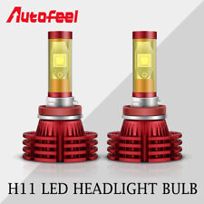Autofeel H11 H9 H8 LED Headlight Bulb Kit Low Beam 1700W 255000LM 6000K  White