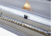 Solid Tungsten Carbide Mens Link Bracelet 20.5cm length Boxed