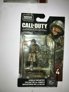 Call of Duty Mega Construx  Jungle Infantry minifigure GCN90 27 Pieces NEW