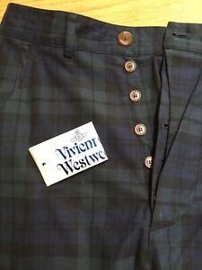 "Vivienne Westwood Mens dark tartan trousers, waist 36"", leg 32"""