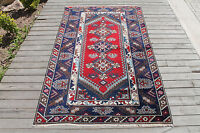 Turkish Rug 45''x72'' Vintage Antalya Wool Carpet 116x185cm Ethnic Area Rug
