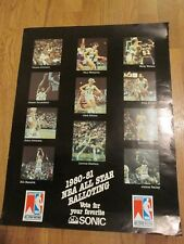 1980-81 NBA ALL STAR POSTER-VOTE FOR YOUR FAVORITE SONIC-RARE