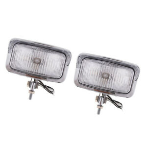 1 Pair 55W Motorbike Motorcycle Rectangle Headlights Front Light Refit for HONDA