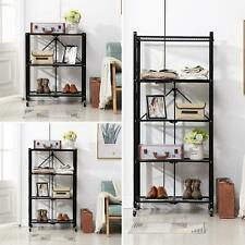 3-Tier / 4-Tier / 5-Tier Metal Rolling Rack Utility Storage Holder Trolley Cart