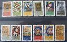 Lot de 12 timbres oblitérés FRANCE 2014 Objets d'Art Renaissance