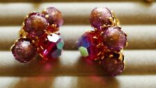 Clip on EARRINGS sugar glass original, marked Vogue