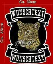 Leopard Dos patch écusson Haut Bas & motif avec texte.