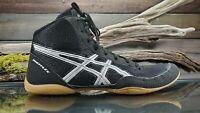 ASICS Matflex 5 Athletic Mens Sz 9 US Black Silver Wrestling MMA Training Shoes