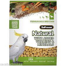 zupreem naturel Nourriture complete pour ARAS, Cacatoès, Amazons 1.36kg (1.4Kg)