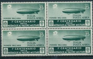 [P15000] Italy 1934 : 4x Good Very Fine MNH Airmail Stamp in Block - $50
