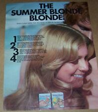 1971 ad page - Clairol SUMMER BLONDE hair color CUTE Girl vintage print AD
