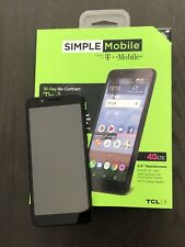 "Simple Mobile TCL LX 4G LTE Prepaid Cell Phone 5.3"" 16GB 8MP Android 8.1"