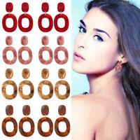 Fashion Retro Women Acrylic Geometric Dangle Drop Statement Earrings Jewelry New