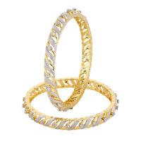 Indian Gold Tone Traditional Ethnic American Diamond Bangle Bollywood Jewelry