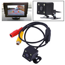 CCD Waterproof Car Rear View Reverse Backup Camera & 4 LED CMOS Night Vision Cam