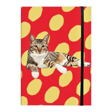 A5 Tabby Cat Soft Notebook Note Book Elasticated Blank Sketch Pad Memo Diary