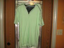 Modern Culture Men's XLT Henley Style T-Shirt Green Good Condition Sleeve Pocket