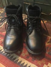 Mens Viking Black Leather Boots 10.5
