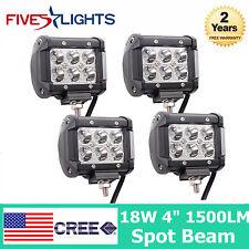4X 4INCH 18W CREE LED WORK LIGHT BAR DRIVING SPOT BEAM ATV UTE TRUCK CUBE PODS