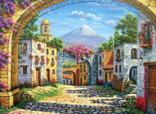 Puzzle Der Vulkan, 500 Teile, mediterran, Kunst, Dorfansicht, Clementoni