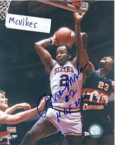 Moses Malone Philadelphia 76'ers Autographed Signed 8x10 Photo #2 HOF COA