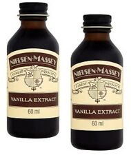 Pure Vanilla Extract Nielsen Massey 2x 60ml small Baking Chef Cook Cupcake Bake