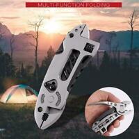 Outdoor Camping Multifunktions-Zangen Multi-tool Schraubendreher Kombi Schl X3C9