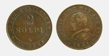 s706_5) Stato Pontificio Pio IX (1846-1870) - 2 Soldi 1867 AN XXI