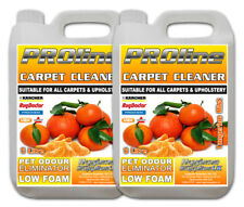 Carpet Cleaning Solution 2x5ltr Odour Stain Remover Cleaner Shampoo Floral Bloom Tangerine Mist