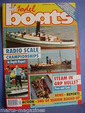 MODEL BOATS JANUARY 1992 HMS WARRIOR HMS MYRMIDON BLUEBIRD OF CHELSEA ZZUZ