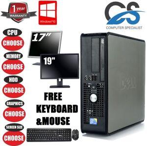 DELL GAMING PC Core 2 Duo E8400 3GHz DESKTOP 1TB 8GB COMPUTER TOWER WINDOWS 10