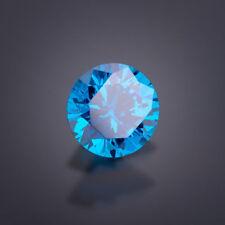 1 Circonia 6mm Redonda Azul Londres CZ CALIDAD AAA+ Circonia