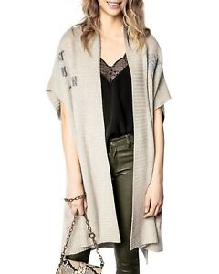 2021  Zadig & Voltaire Indiany Cashmere Cardigan Jacket Sweater $944 New