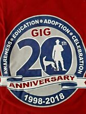 Greyhounds in Getty. 20th Anniversary Red TShirt *100% Donation 2 cure K9 Cancer