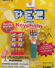 NEW in Package Vintage 1998 PEZ Candy Dispnser Keychain UNCLE SAM #931-0 NICE!