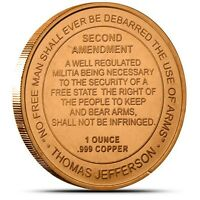 1 oz Copper Round - 2nd Amendment