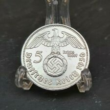 1936 A NAZI GERMANY 5 REICHSMARK - AU/UNC Awesome Silver Coin minting Berlin