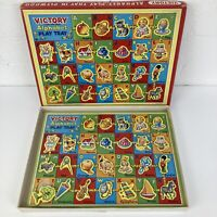 Vintage Victory Wooden Alphabet Play Tray Jigsaw Puzzle with 26 Cut Out Pieces