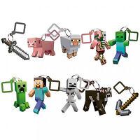 Minecraft 3D Keyring Keychain Belt Bag Hangers 10 Mine Craft Figures to Collect
