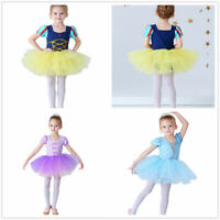 Kid Girls Ballet Dance Tutu Dress Leotard Gymnastics Ballerina Dancewear Costume