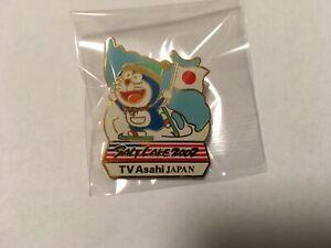 ORIGINAL 2002 SALT LAKE OLYMPIC MEDIA PIN BADGE JAPANESE TV ASAHI DORAEMON PINS