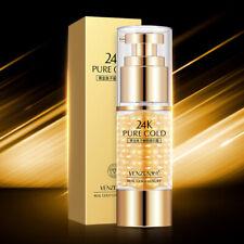 24K Gold Eye Cream Gel Anti Dark Circle Wrinkle Remove Firming Essence Collagen