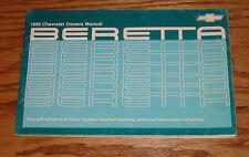 Original 1988 Chevrolet Beretta Owners Operators Manual 88 Chevy