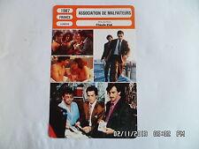 CARTE FICHE CINEMA 1987 ASSSOCIATION DE MALFAITEURS Christophe Malavoy F.Cluzet