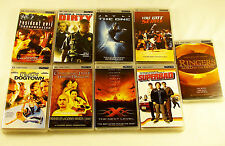 Selection of 9 UMD Movies Films for Sony PSP gaming consoles region 2 UK PAL EU