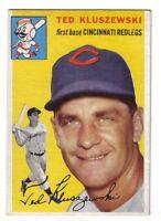 1954 Topps Baseball Card #7 Ted Kluszewski  Cincinnati Redlegs  EX+