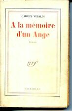 A LA MEMOIRE D'UN ANGE - Gabriel Veraldi - NRF 1953