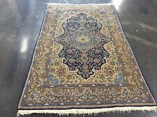 Authentic Vintage Persian Rug Hand Knotted Wool 7' X 4' 4""