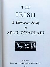 The Irish: A Character Study -SEAN O'FAOLAIN  1st edition