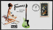 1960s Framus Guitars & Pin Up Girl Featured on Collector's Envelope *A441